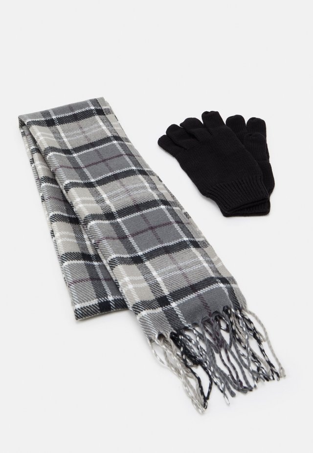 TARTAN SCARF GLOVE SET - Schal - grey/juniper