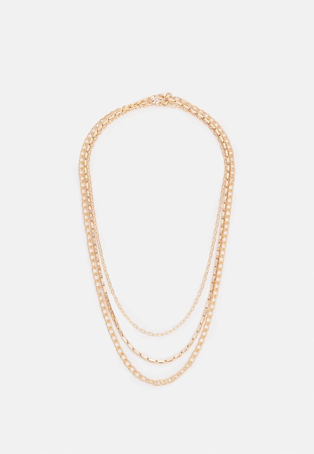 ROW CAHIN NECKLACE 3 PACK - Náhrdelník - gold-coloured