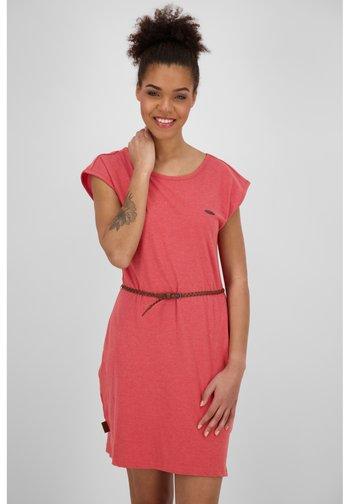 Jersey dress - brick