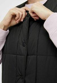 Pieces - Waistcoat - black - 3