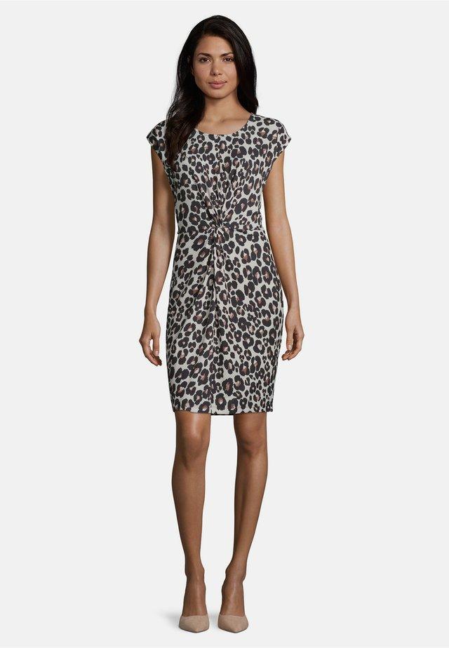 Shift dress - weiß/schwarz