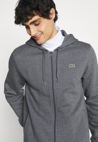 Lacoste - CLASSIC HOODIE - Zip-up hoodie - pitch chine/graphite sombre - 3