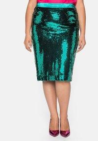 Sheego - Pencil skirt - powergrün - 0