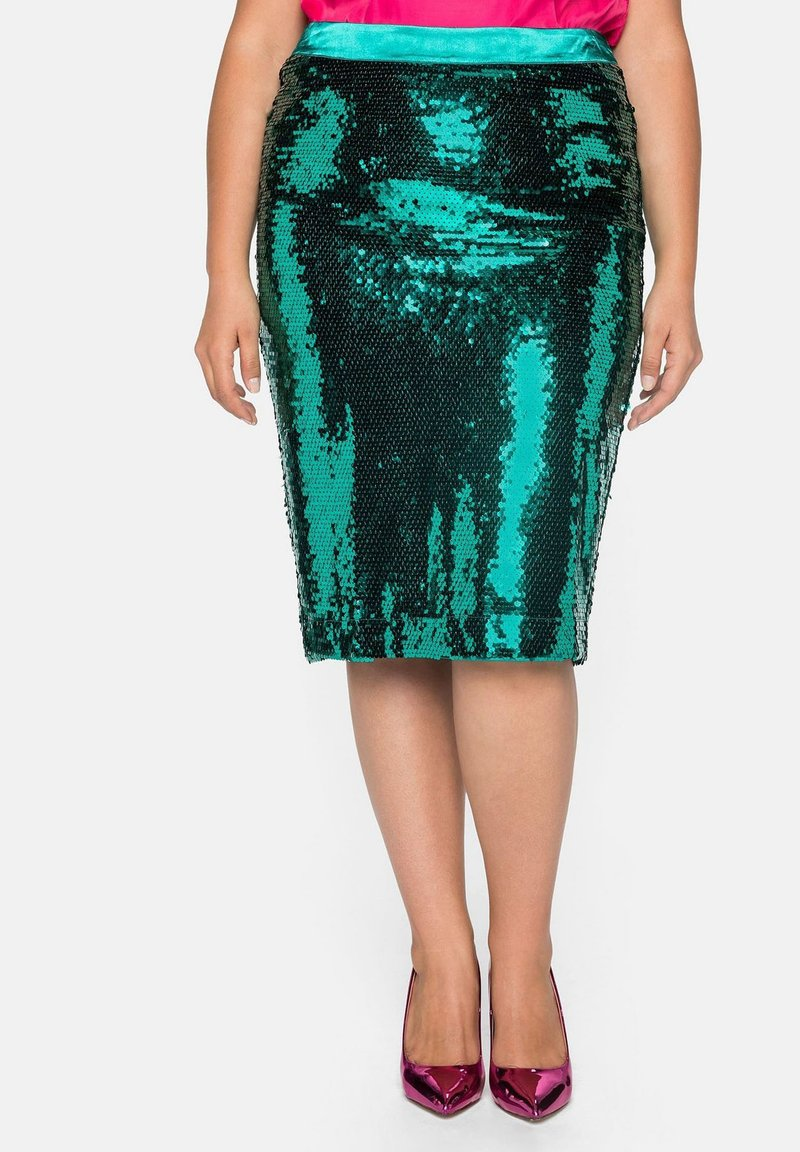 Sheego - Pencil skirt - powergrün