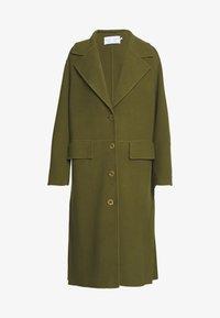 FACE COAT SIDE SLITS - Zimní kabát - moss