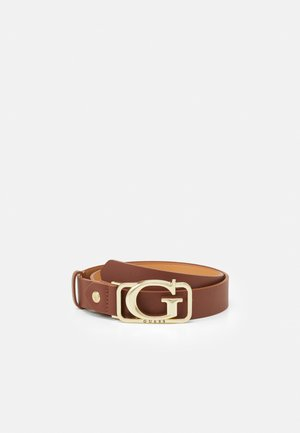 ADJUSTABLE PANT BELT - Belt - cognac