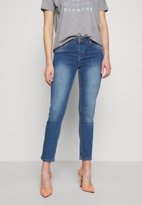 BLANCHE - JADE LIGHT CROPPED - Jeans slim fit - indigi heavy enzy - 0