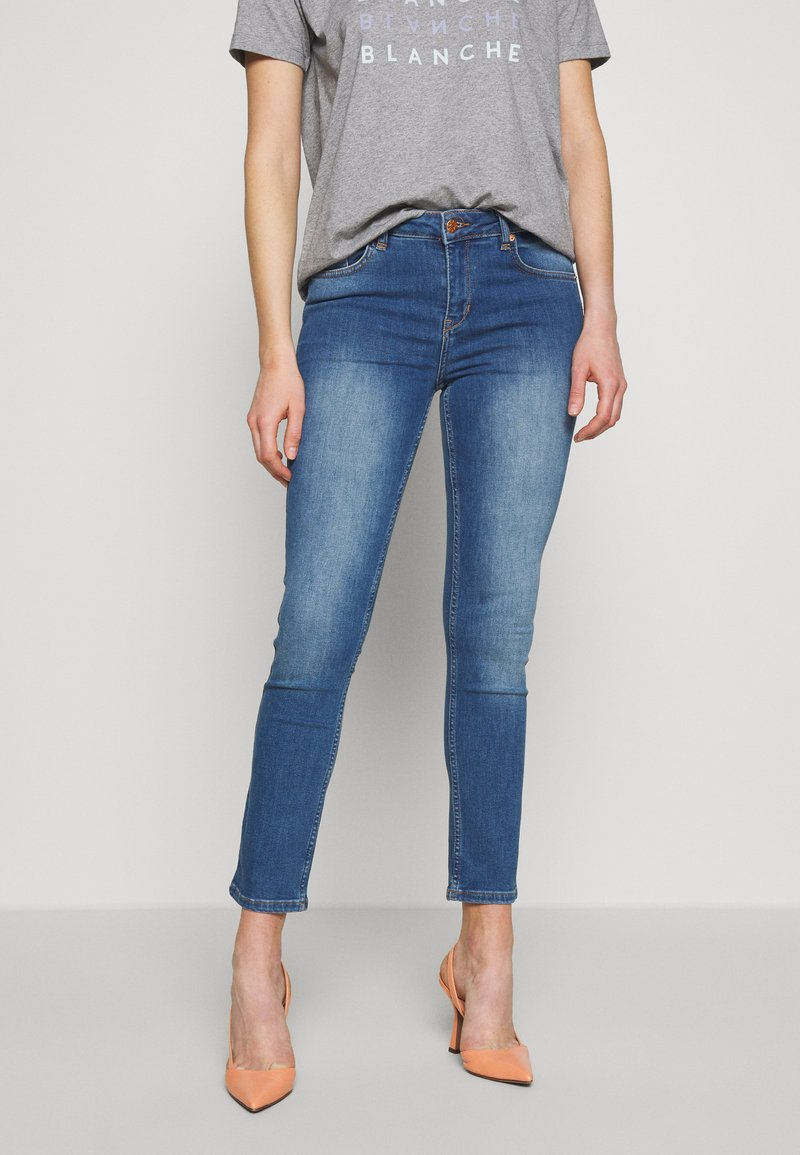 BLANCHE - JADE LIGHT CROPPED - Jeans slim fit - indigi heavy enzy