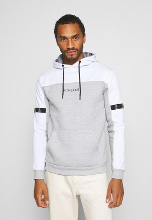 FULHAM - Hoodie - optic white /grey marl / jet black