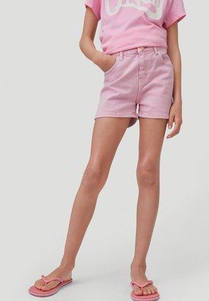 Denim shorts - sea pink