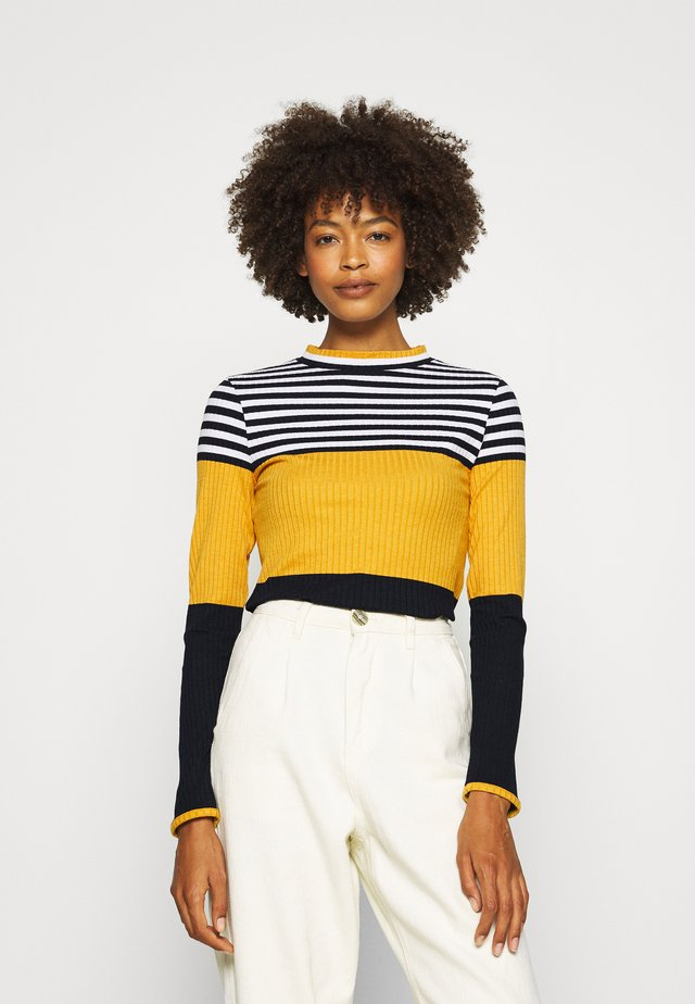 COLORBLOCK  - Strickpullover - brass yellow