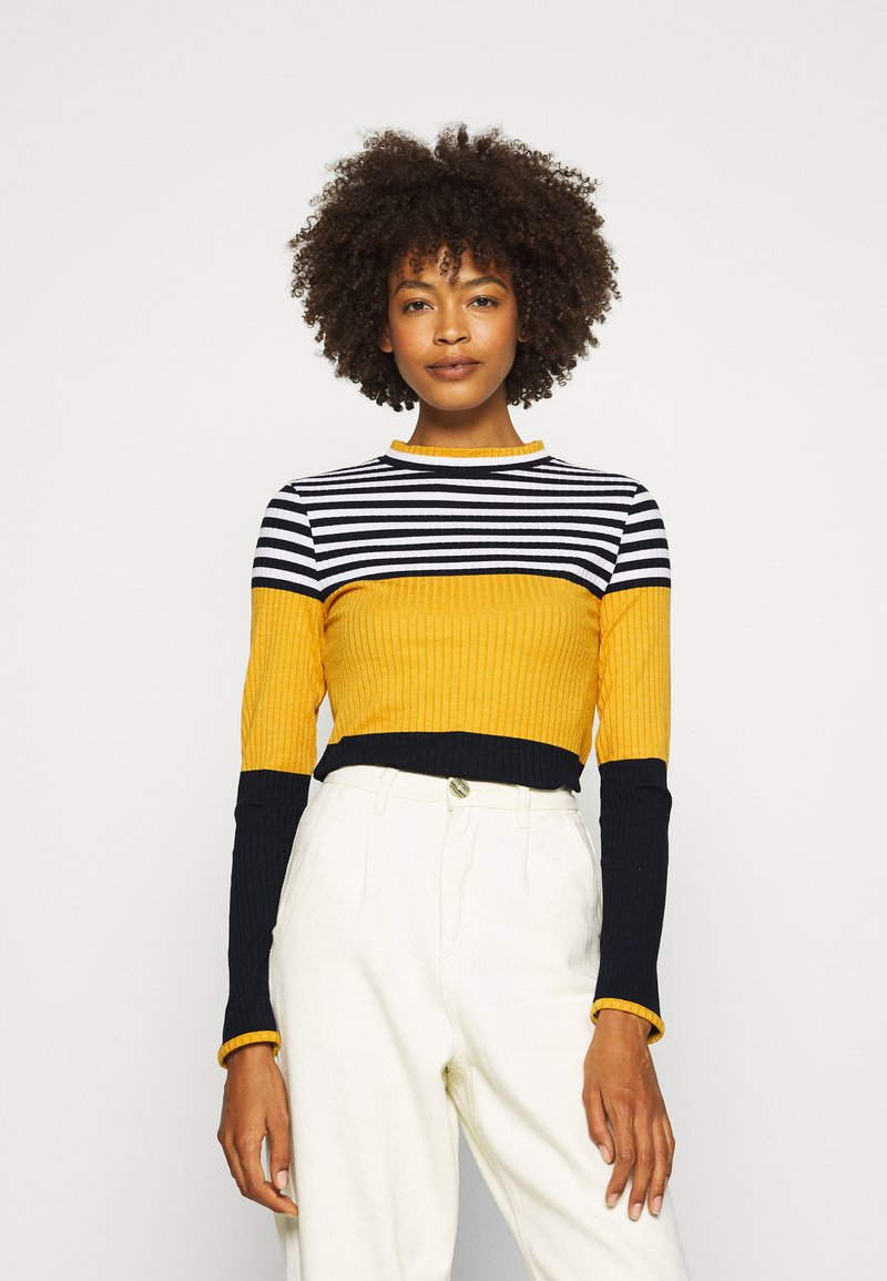 edc by Esprit - COLORBLOCK  - Jumper - brass yellow