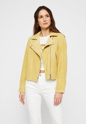 PCANA SUEDE JACKET - Leather jacket - popcorn