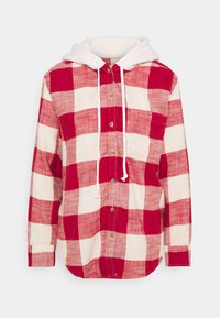 American Eagle - HOODED PLAIDS - Button-down blouse - red - 0