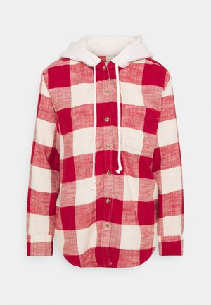 HOODED PLAIDS - Skjorta - red