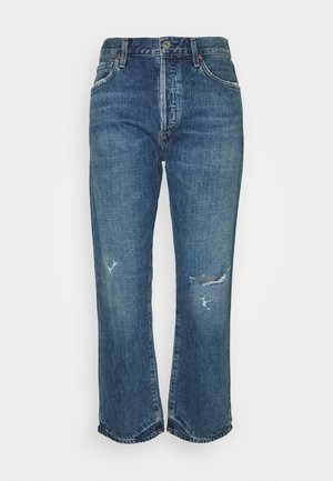 EMERY HIGH RISE RELAXED CROP - Džíny Bootcut - rivers mid indigo