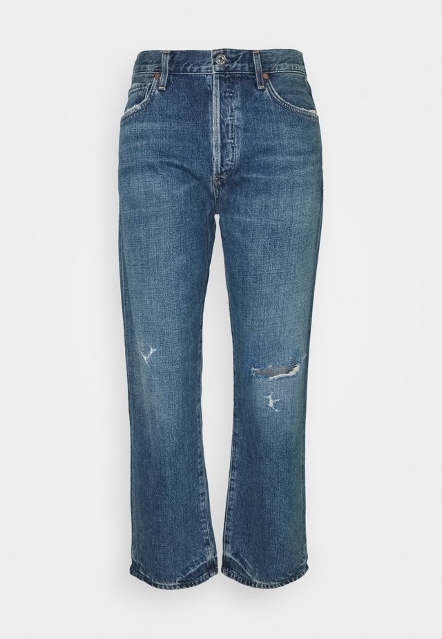 EMERY HIGH RISE RELAXED CROP - Jean bootcut - rivers mid indigo