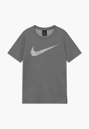 CORE - Print T-shirt - smoke grey/white