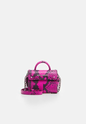 IKON SNAKE NANO TOP HANDLE - Across body bag - fuchsia