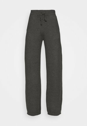 VIRIL STRAIGHT PANTS - Tracksuit bottoms - dark grey melange