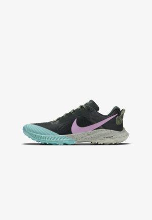 Trail running shoes - seaweed/spiral sage/aurora green/beyond pink