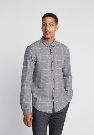 COSY CHECK SHIRT - Shirt - black off white