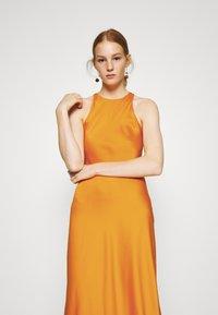 Who What Wear - CUT OUT BACK SLIP DRESS - Cocktail dress / Party dress - papaya - 3