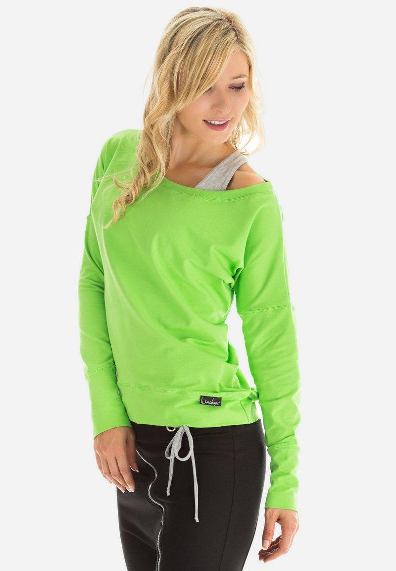 Winshape - LONGSLEEVE - Sweatshirt - apfelgrün