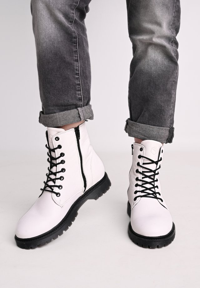 SUNNY  - Lace-up ankle boots - white