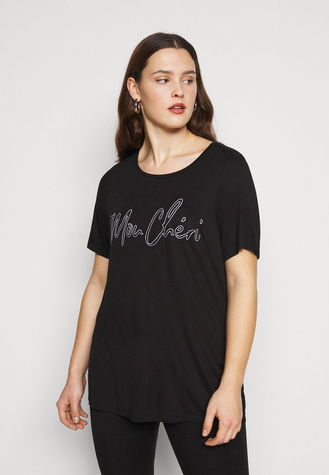 MON CHERIE TEE - T-shirt con stampa - black
