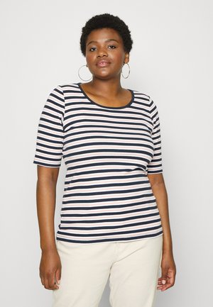 EFAZILE TEE - Print T-shirt - blue/rose