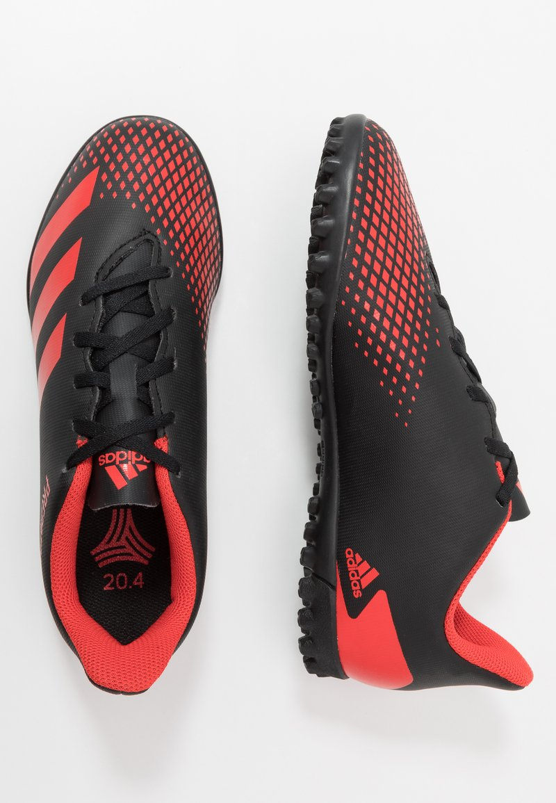 adidas Performance - PREDATOR 20.4 TF - Astro turf trainers - core black/active red