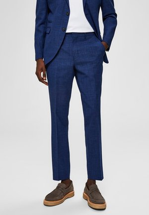SELECTED HOMME ANZUGHOSE SLIM FIT - Suit trousers - estate blue