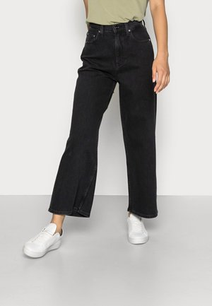 WIDE LEG - Relaxed fit jeans - denim black