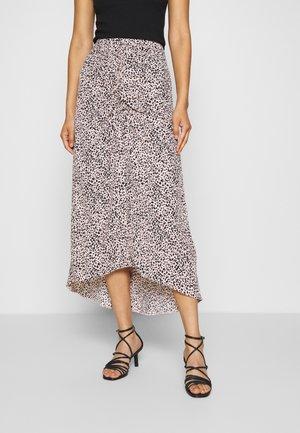 LEOPARD RUCHED MIDI SKIRT - A-line skirt - black