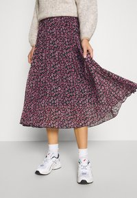 Dorothy Perkins - FLORAL PLEAT MIDI SKIRT - A-line skirt - pink - 4