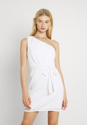 JENNA ONE SHOULDER MINI DRESS - Cocktail dress / Party dress - porcelain