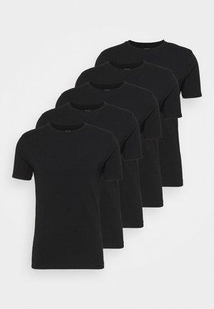 5 PACK - T-paita - black