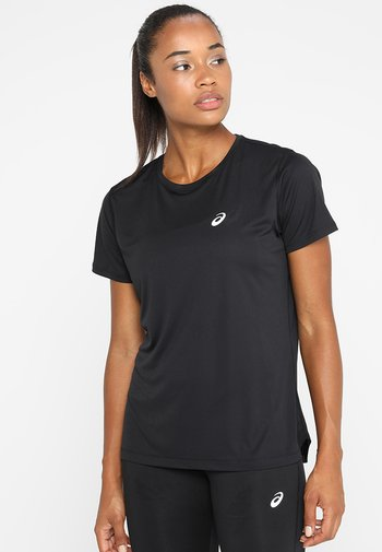 Camiseta estampada - performance black