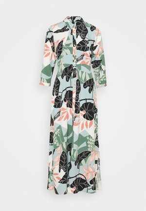 YASIVY 3/4 ANKLE DRESS - Skjortekjole - gray mist/ivy