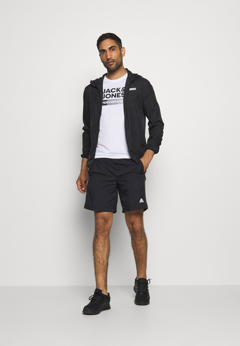 Jack & Jones - JCOZ SPORT LOGO TEE 2 PACK - T-Shirt print - black/white