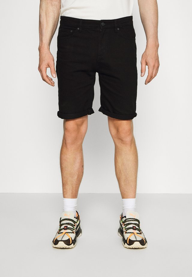 BASIC - Denim shorts - black