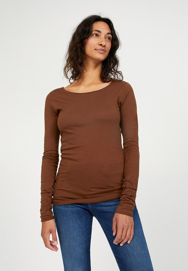 EVVAA CUSTOMIZED - Long sleeved top - cacao