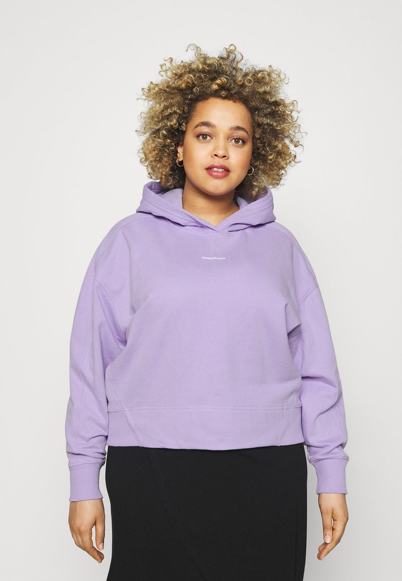 Calvin Klein Jeans Plus - PLUS MICRO BRANDING HOODIE - Hoodie - palma lilac