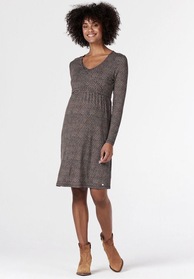 Jersey dress - gunmetal
