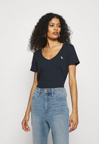 Abercrombie & Fitch - Basic T-shirt - navy - 0