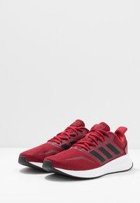 adidas Performance - RUNFALCON - Neutral running shoes - active maroon/core black/maroon - 2