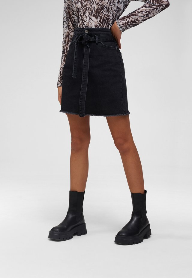 A-line skirt - altschwarz
