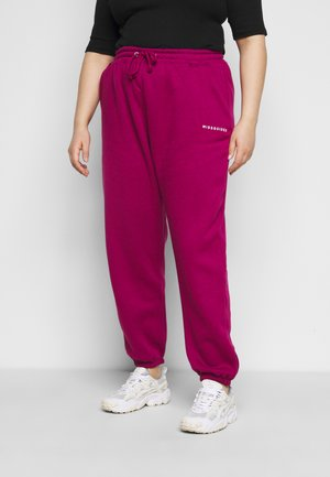 Tracksuit bottoms - raspberry