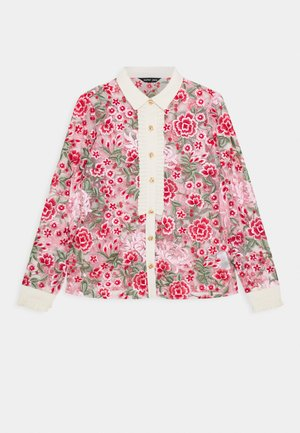 FORMAL EMBROIDERED BLOUSE - Blůza - red